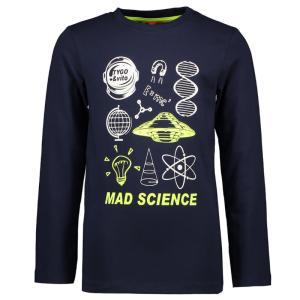 Donkerblauwe longsleeve Mad Science