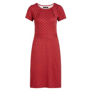 Rood geprinte jurk Mona Rancho