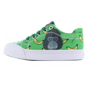 Blauw geprinte sneakers Monkey