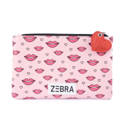 Roze etui Kisses