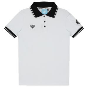 Witte polo Wavy