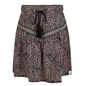 Zwart geprinte rok Skirt