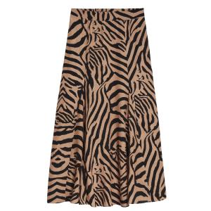 Bruin geprinte rok Tigre