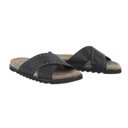 Zwarte nappa Sandaal