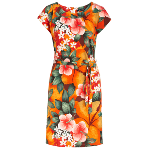 Oranje geprinte jurk Shirley El Segundo