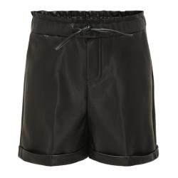 Zwarte PU short Cleo
