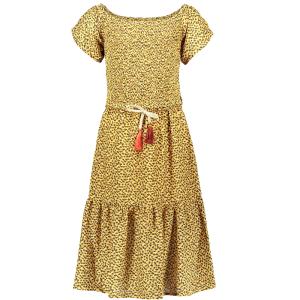 Gele panter maxi jurk 5814