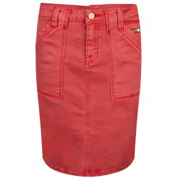 Rode spijkerrok 12216