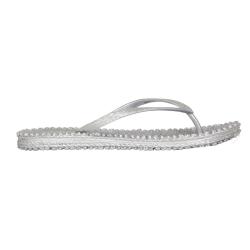 Zilveren slippers Cheerful