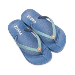 Blauwe slipper