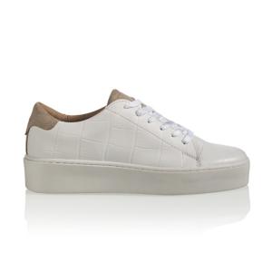 Wit met beige sneaker Mali Croco