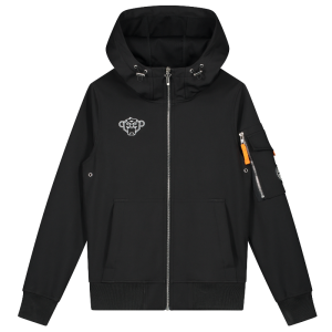 Zwarte softshell jacket Jr.