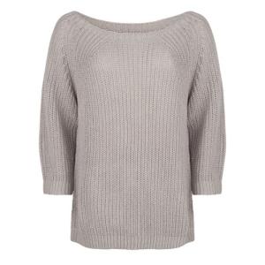 Lichtgrijze sweater 3/4 Sleeve