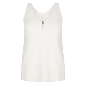 Witte singlet Camisole Buttons