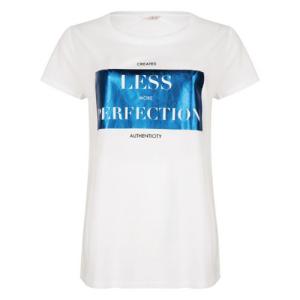 Wit met blauw t-shirt Perfection