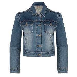 Blauwe jacket Cropped