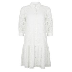 Witte jurk Lace Poplin