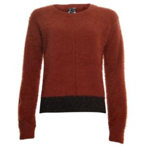 Bruine lurex sweater 33241