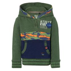 Donkergroene hoodie Evon