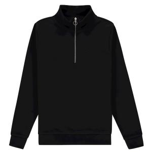 Zwarte sweater Halfzip
