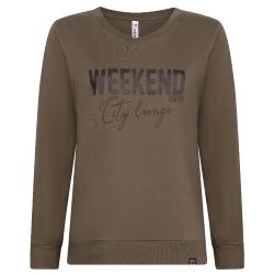 Armygroene sweater Maggy