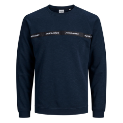 Donkerblauwe sweater Train