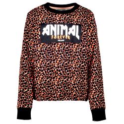 Zwart geprinte sweater Hira