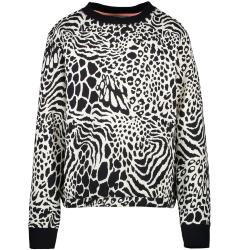 Wit geprinte sweater Hira