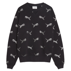 Zwarte sweater Jumping Cheetah