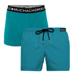 Blauwe swimshort Solid - XXL