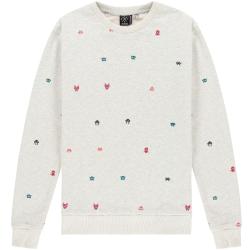 Lichtgrijze sweater Invader