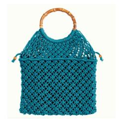 Blauwe tas Macrame - One-Size