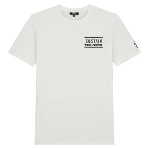 Wit regular t-shirt Techwave