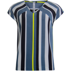 Blauwe blouse Striped