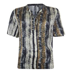 Gestreepte jacquard blouse 113184