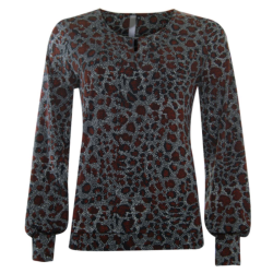 Geprinte spotted top 33167