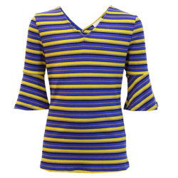 Blauwe top Anny Stripe - 140