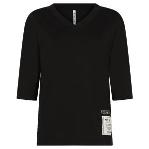 Zwart patches t-shirt Christa