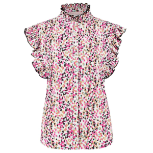 Wit geprinte blouse Michelle Arti Dot