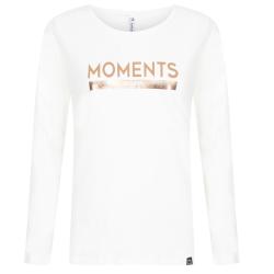 Witte top met print Moments