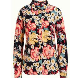 Zwart geprinte blouse Rosie Carioca