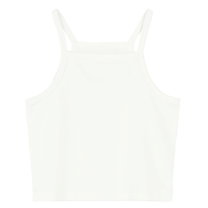 Witte cropped top Viline