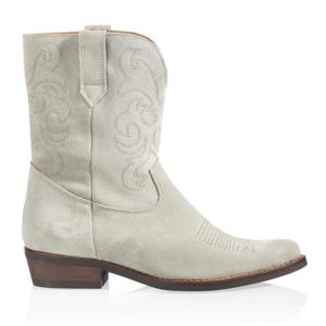 Lichtgroene suede boots Toscane