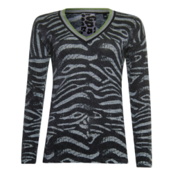 Zebra print sweater 933110