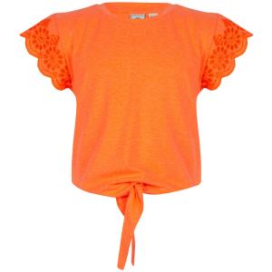 Oranje t-shirt Broderie