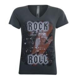 Donkergrijs rock roll t-shirt 33150