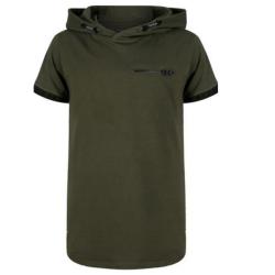 Donkergroen t-shirt hoodie 3684