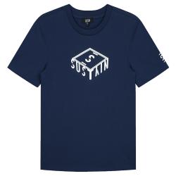 Blauw t-shirt 3D Box Logo