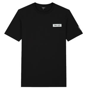 Zwart regular t-shirt 3D Patch