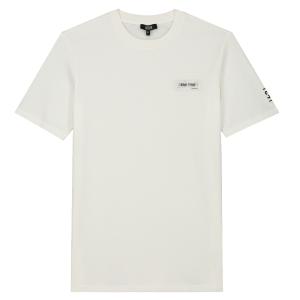 Wit regular t-shirt 3D Patch